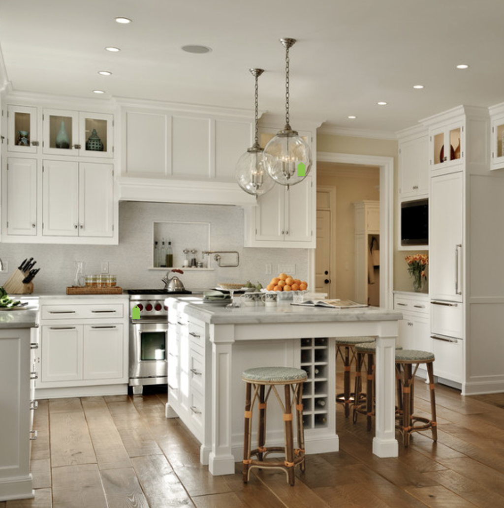 Traditional Style Kitchen Design With A Modern Twist: White Kitchen Cabinets, Beautiful
