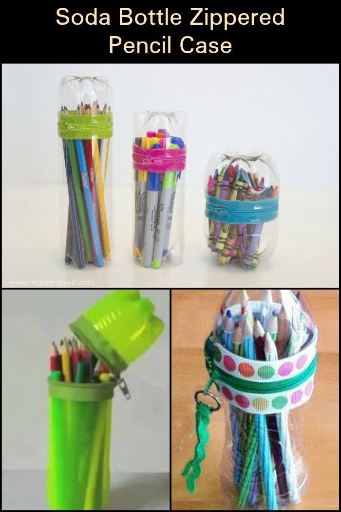 Make A Cute Pencil Case Out Of Your Empty Plastic Soda Bottles