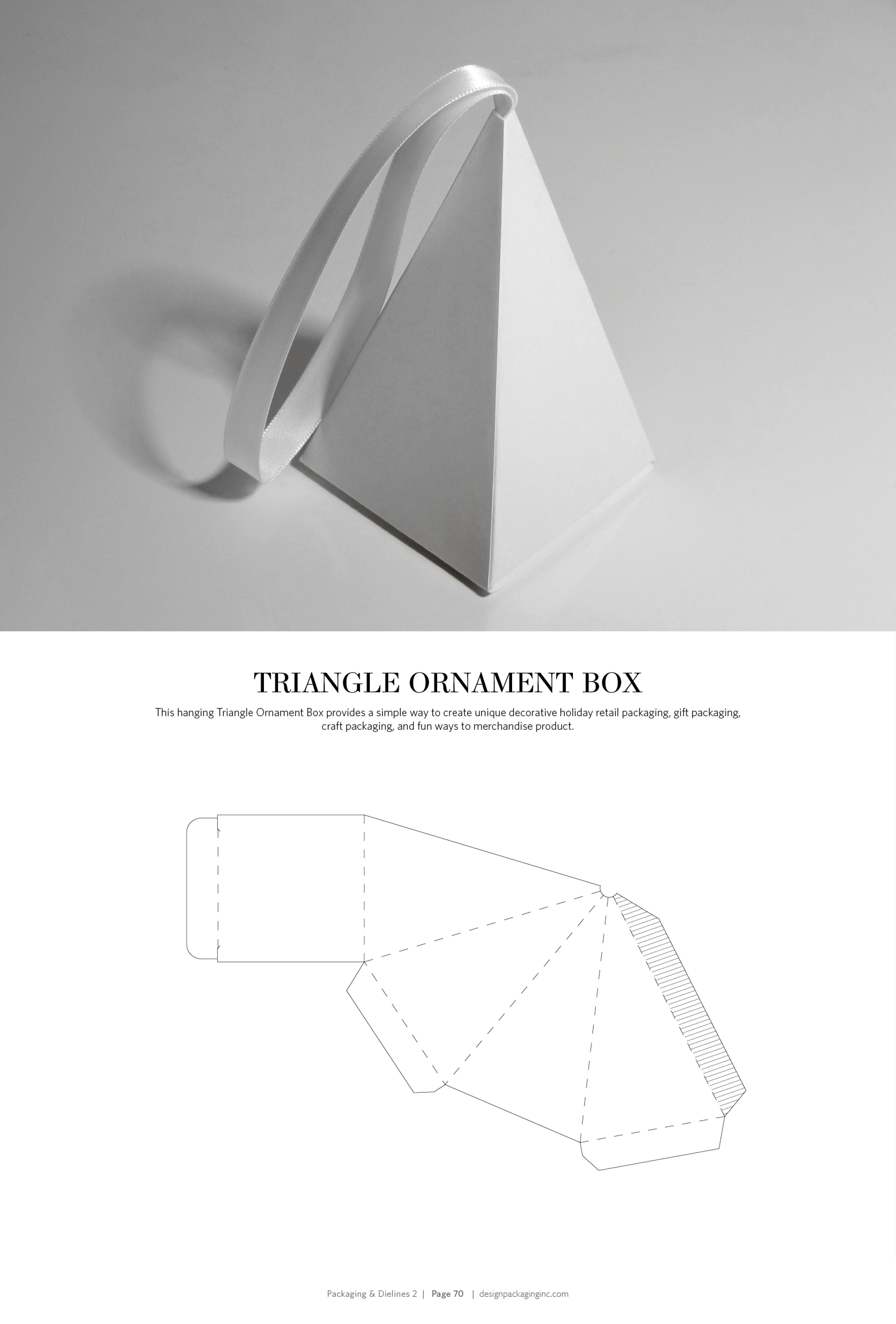 Packaging dielines ii the designer 39 s book of packaging for Triangle packaging template