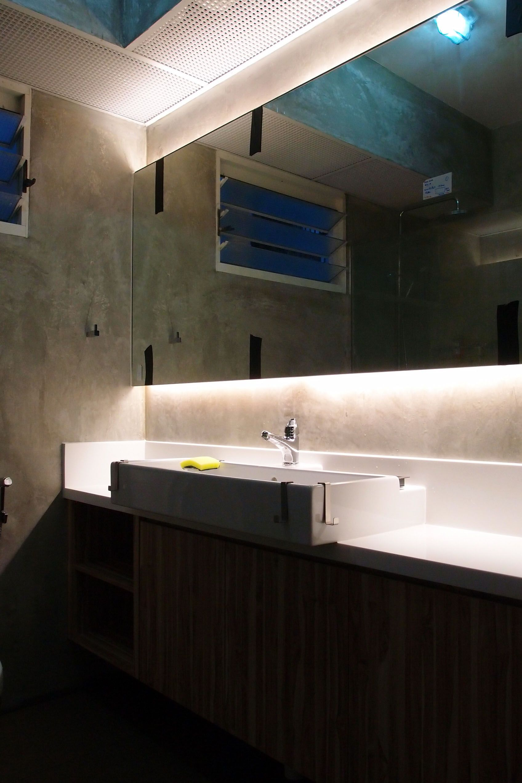 Large Mirror With Cove Lighting Modern Bathroom Mirrors Modern Bathroom Bathroom Mirror Lights