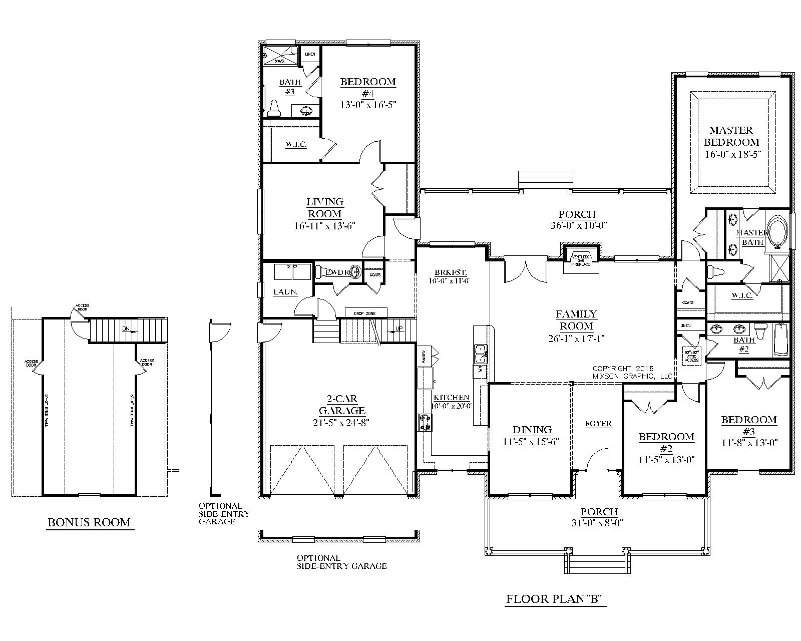 House Plan 2990 B The Arlington B House Plans One Level Homes Floor Plans