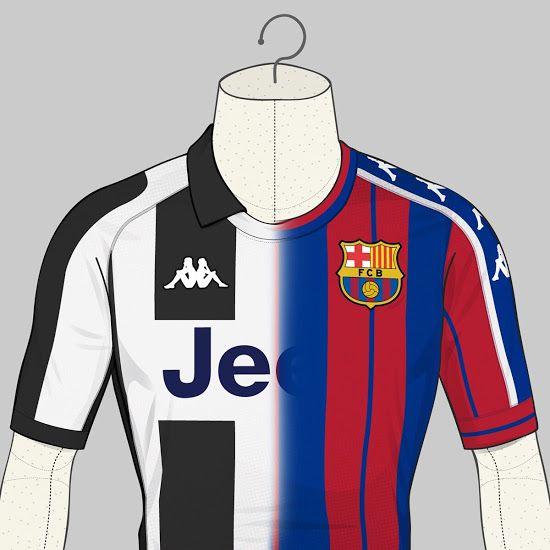a8a8a363ad2 Barcelona and Juventus Kappa Concept Kits - Footy Headlines ...