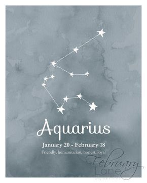 Photo of Aquarius Zodiac Constellation Wall Art Printable 8×10 Instant | Etsy