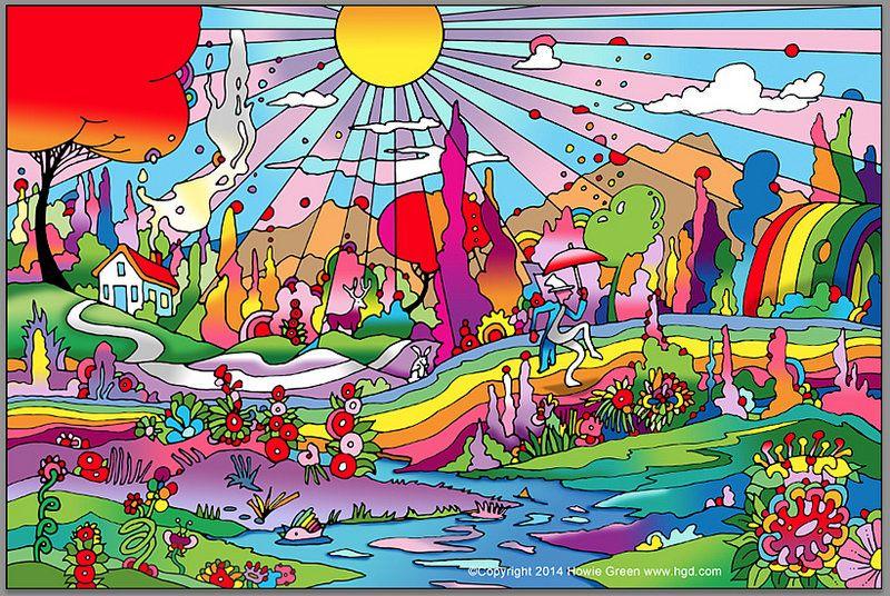 Hippie Mural Wall Art