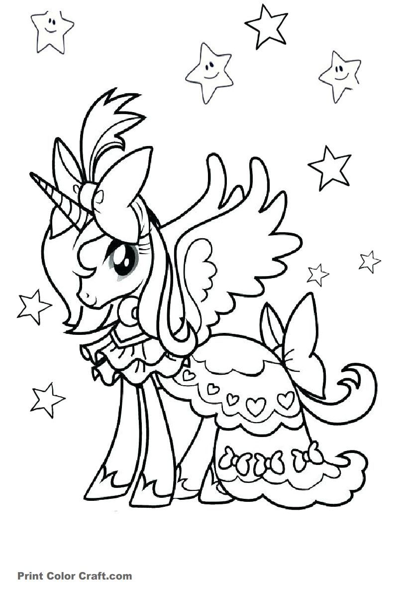Free Unicorn Coloring Pages Coloring Pages Coloring Books