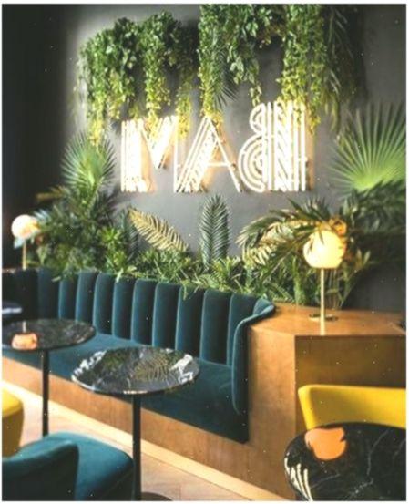 Semicircular Ktv Room Interior Design: Design Cafe Wall Spaces 36+ Ideas Em 2020 (com Imagens