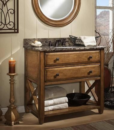 Pic Of  Rustic Style Ideas With Rustic Bathroom Vanities