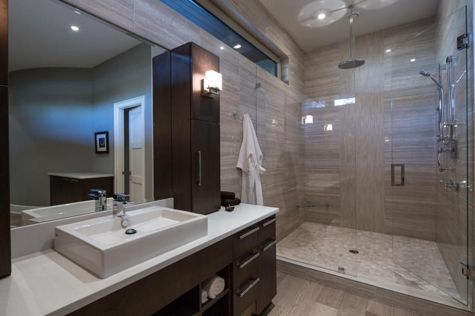Spa Inspired Master Bathrooms Hgtv Tile In Shower And Sink