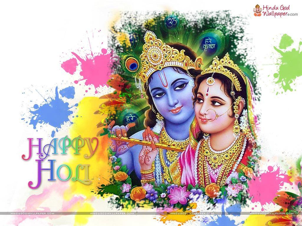 Happy holi radha krishna images - Krishna Holi Wallpapers And Photos