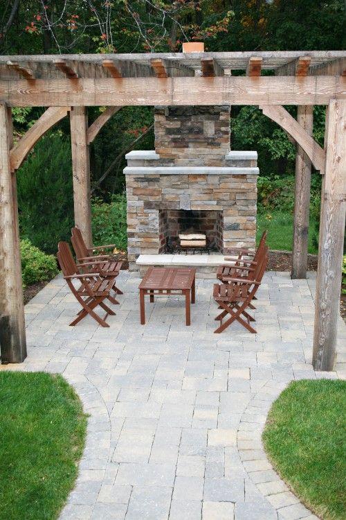 Backyard Backyard Fireplace Patio Design Backyard Patio