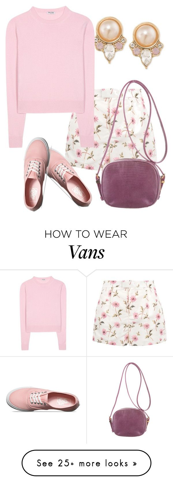 """Untitled #901"" by srlangley on Polyvore featuring Carolee, RED Valentino, Miu Miu, Vans and The Row"