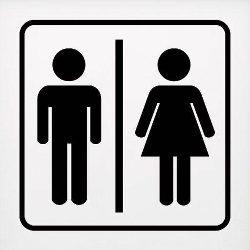 Símbolo Mixto | Letreros para baños, Puertas de baños ...