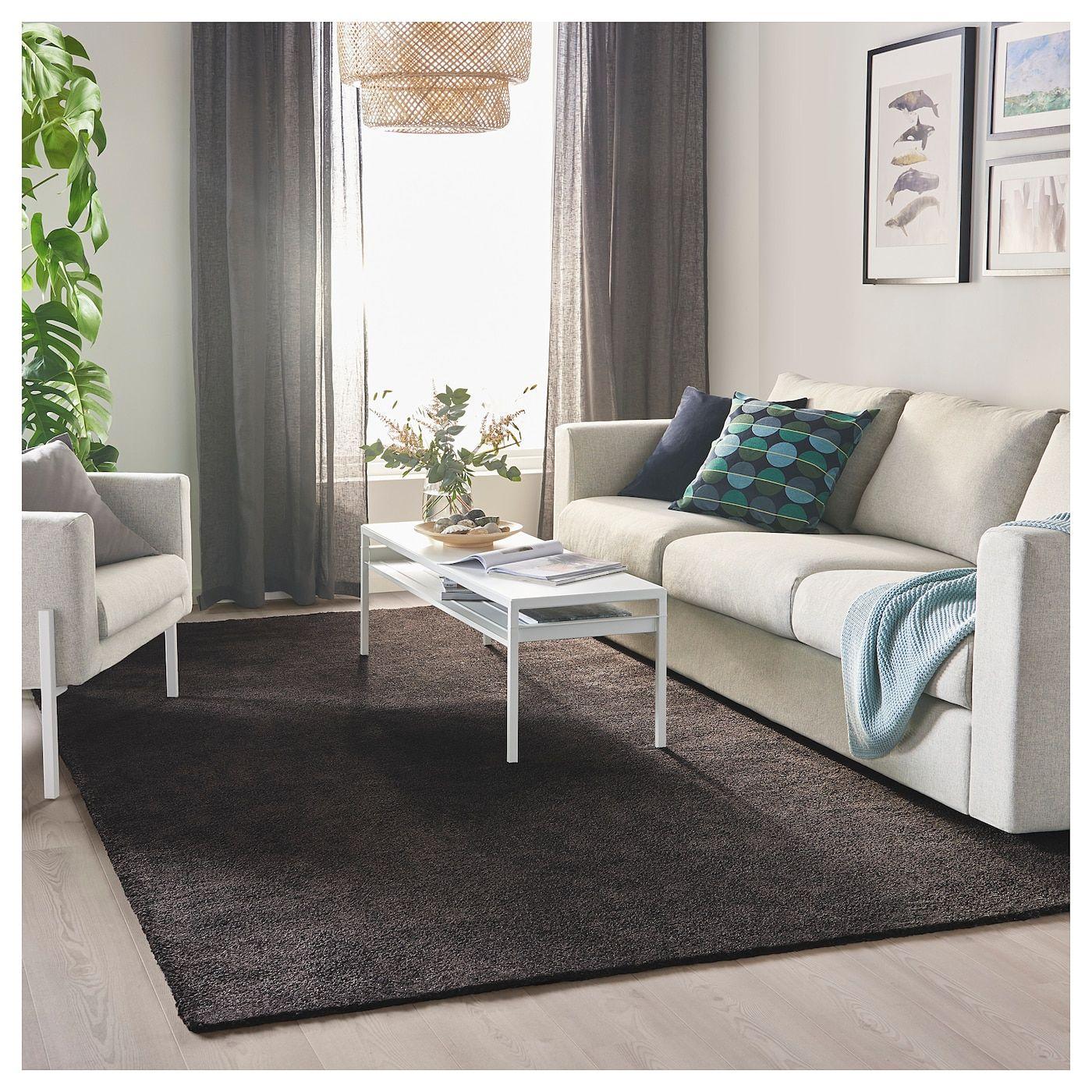 IKEA STOENSE Rug, low pile dark gray in 2019 Ikea rug