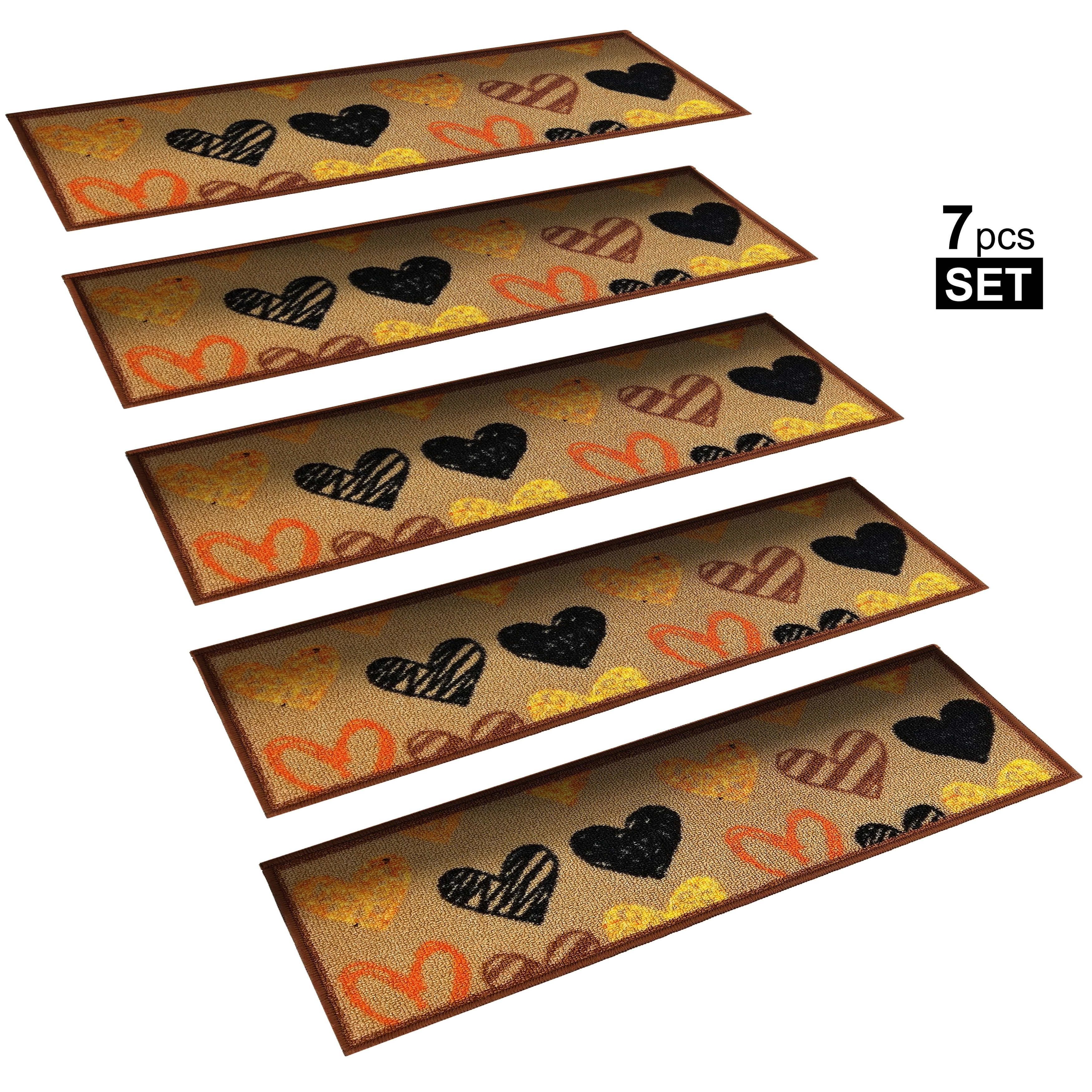 Best Stepbasic Non Slip Rubber Backed Resistant Stair Tread Mat 640 x 480