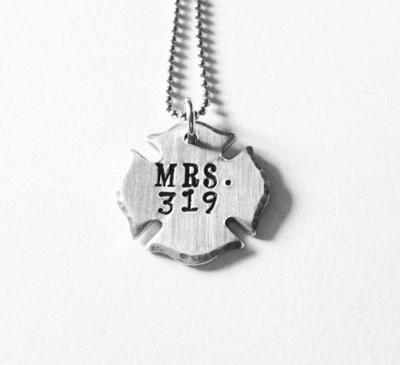 Firefighter Wife Necklace Fireman Jewelry Police Thin Red Line