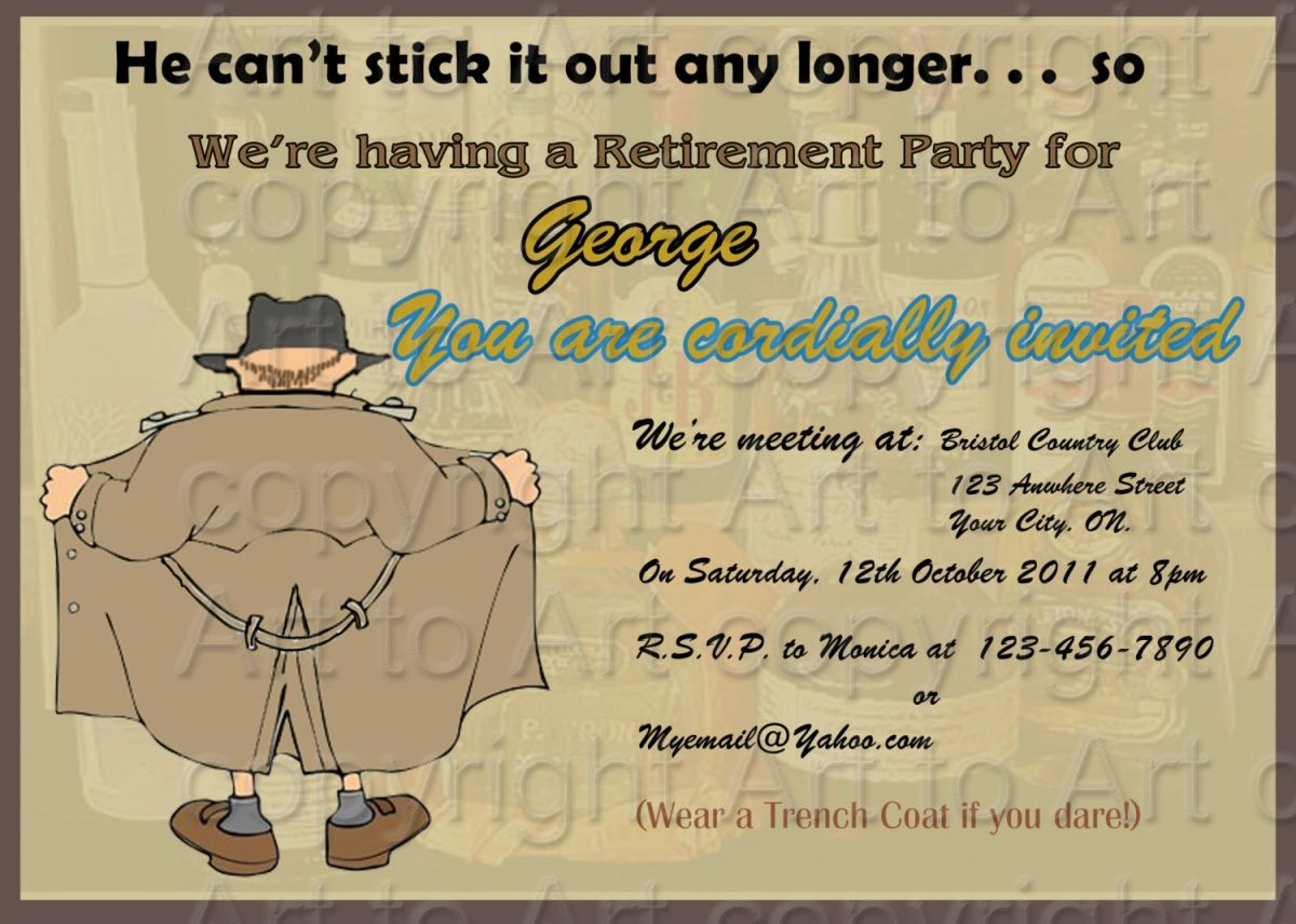 Retirement Party Invitation Ideas Templates | Retirement Party ...
