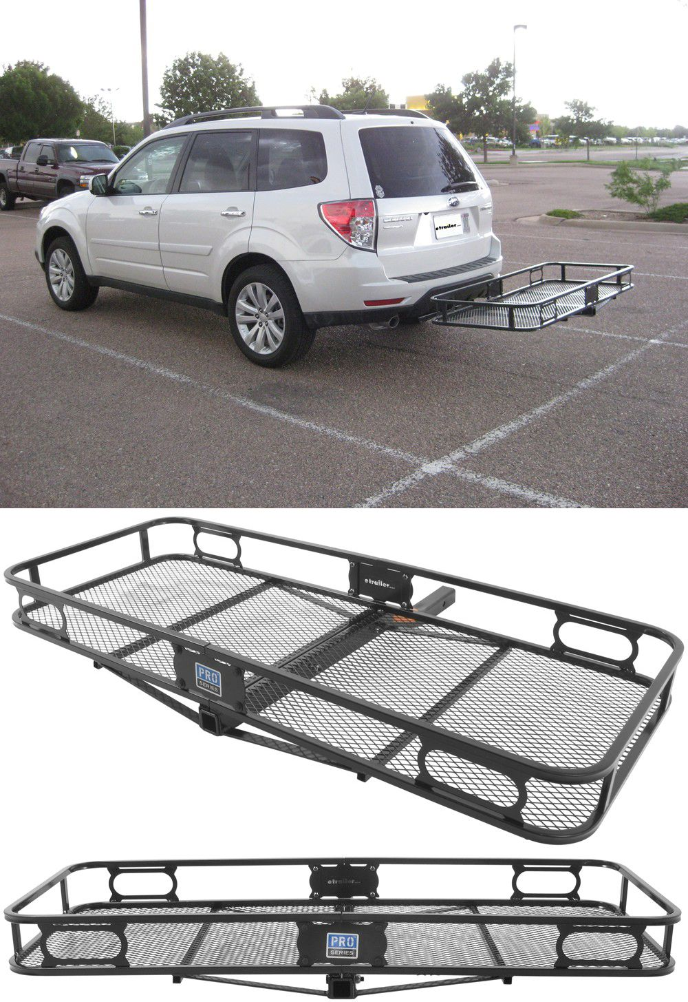 24x60 Reese Cargo Carrier For 2 Hitches Steel 500 Lbs Reese