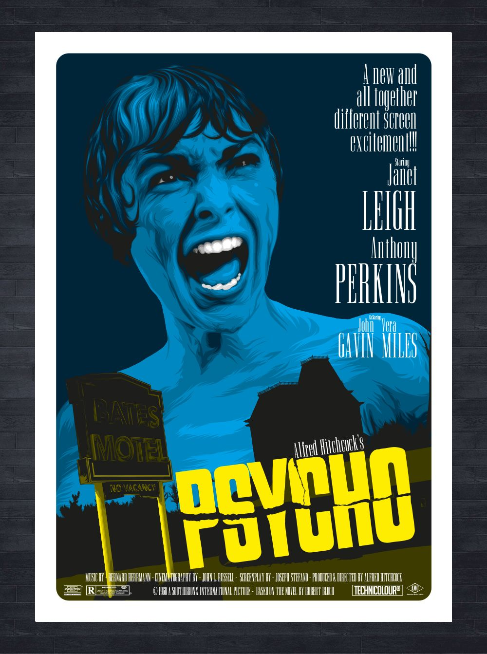 psycho film poster alfred hitchcock