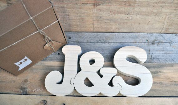 J&S Wood Puzzle Letters Handmade Cutting - Hand Cut Wooden