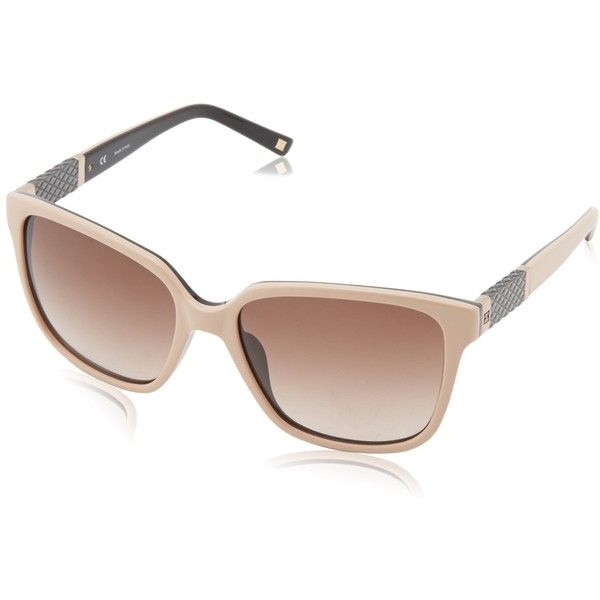 Escada Sunglasses Women's SES309-D22 Square Sunglasses ($325) ❤ liked on Polyvore featuring accessories, eyewear, sunglasses, escada glasses, escada, escada sunglasses, square lens sunglasses and escada eyewear