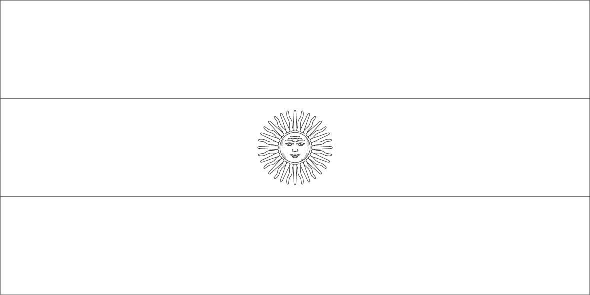 Argentina Flag Coloring Pages Flag Coloring Pages Argentina