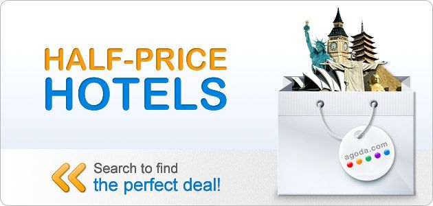 Half Price Hotel Deals From Agooda