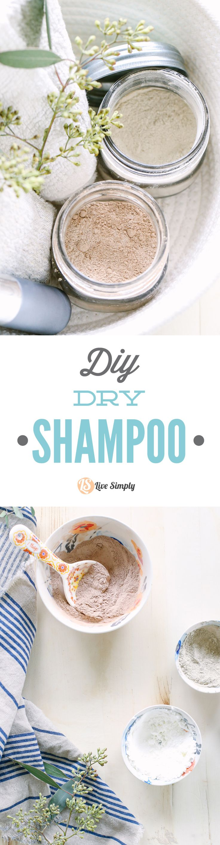 DIY Dry Shampoo (For Dark and Light Hair Colors) Live