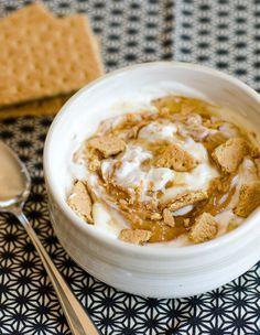 #Recipe: Yogurt Swirled with Peanut Butter, Honey, and Graham Crackers