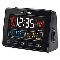 AcuRite Atomic Dual Alarm Clock with Indoor Temperature in Black