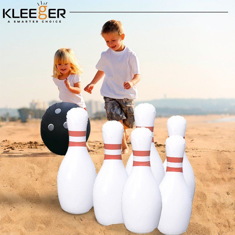 Giant Inflatable Bowling Game Set Ensures A Striking Good Time For All Ages Kids Bowling Bowling Games Outdoor Games For Kids
