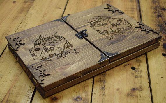 Wooden Dungeon Master Screen, RPG Games, Table Top Games