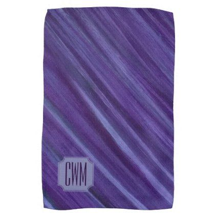 Indiffe Kitchen Monogram Purple Lilac Plum Towel Unusual Diy Cyo Customize Special