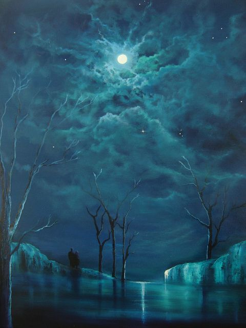 "opticcultvre: ""  Blue moon by zena_rowland """