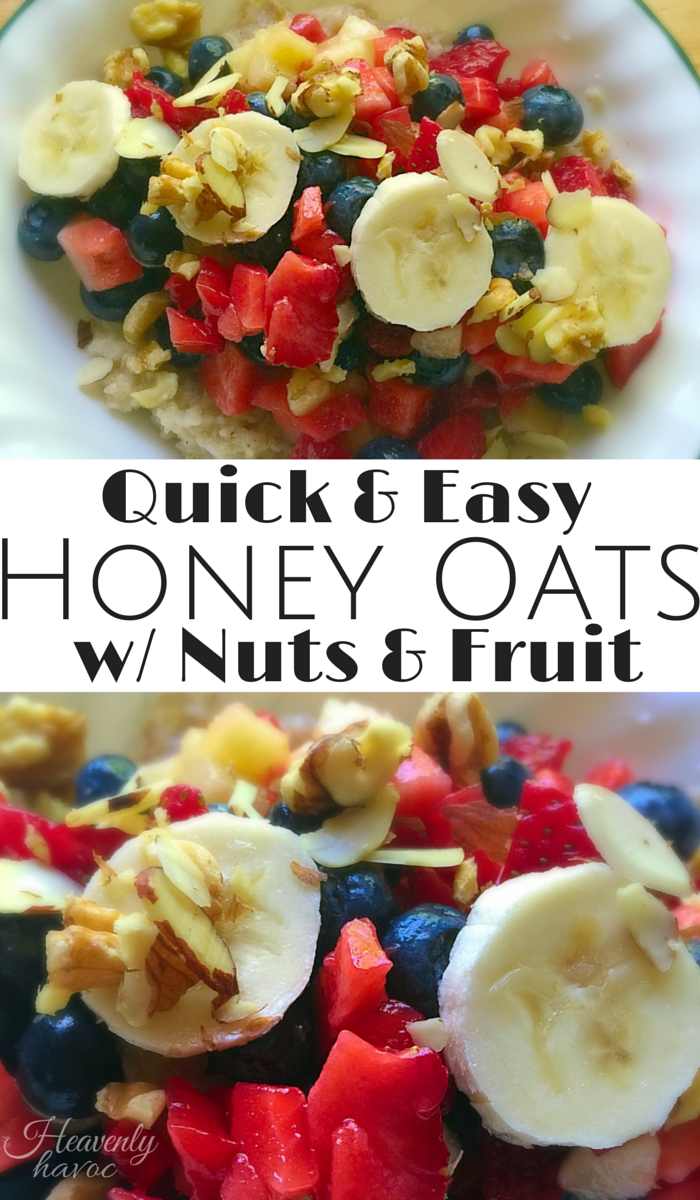 These Honey Oats are packed with protein, healthy fats, and antioxidants. The best part...this frugal breakfast is QUICK and EASY!