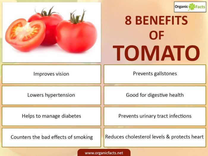 The health benefits of tomatoes can be attributed to their wealth of nutrients and vitamins. According to …   Health benefits of tomatoes ...