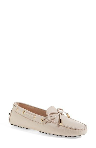 Moccasins Woman Beige White Leather