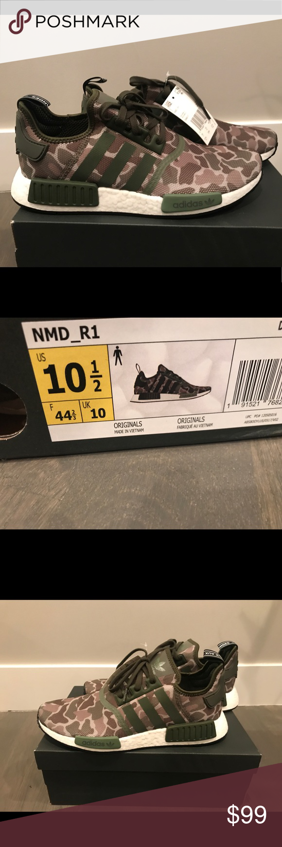 reputable site df523 120c1 Brand new Adidas NMD R1 Camo D96617 New ADIDAS NMD R1 Men s Shoes Style   D96617 MSRP   130 Brand New Original Box Included (Box Condition Not  Guaranteed) ...