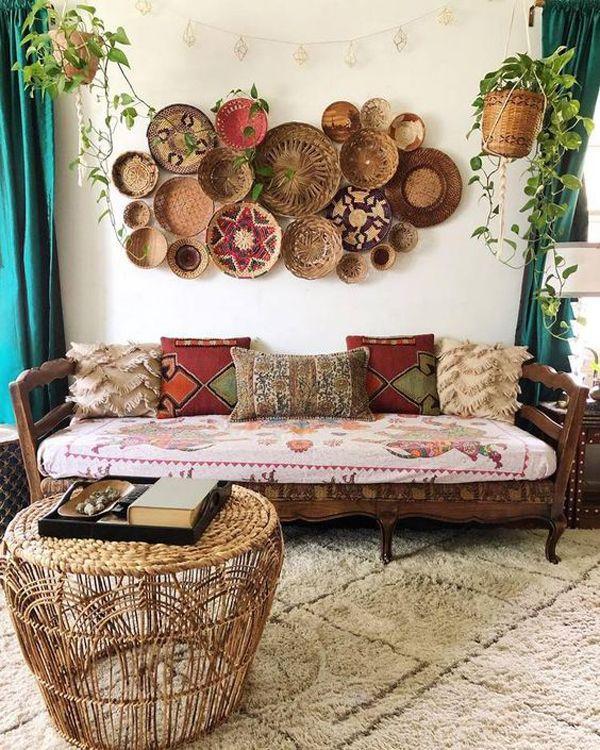 8 Artistic And Beautiful Boho Wall Art Ideas | Apartment interior ...