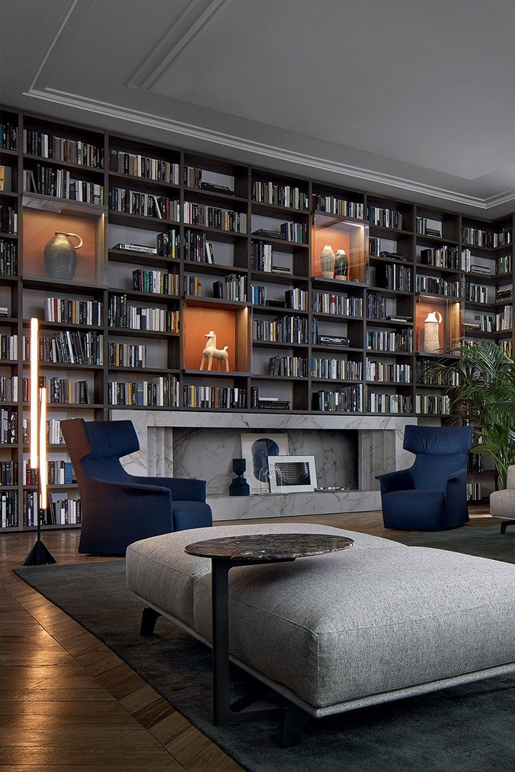 Luxury Home Library Design: Pin By Anna Adebayo On Living Room In 2020 (With Images