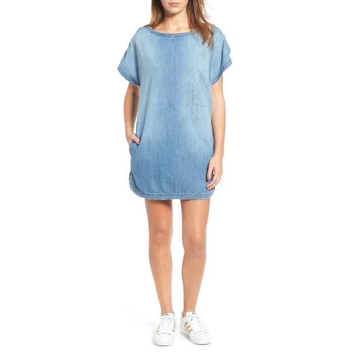 3e30d7ed91c 10 Best Denim Dresses -  8 Current Elliott Denim T-Shirt Dress  rankandstyle