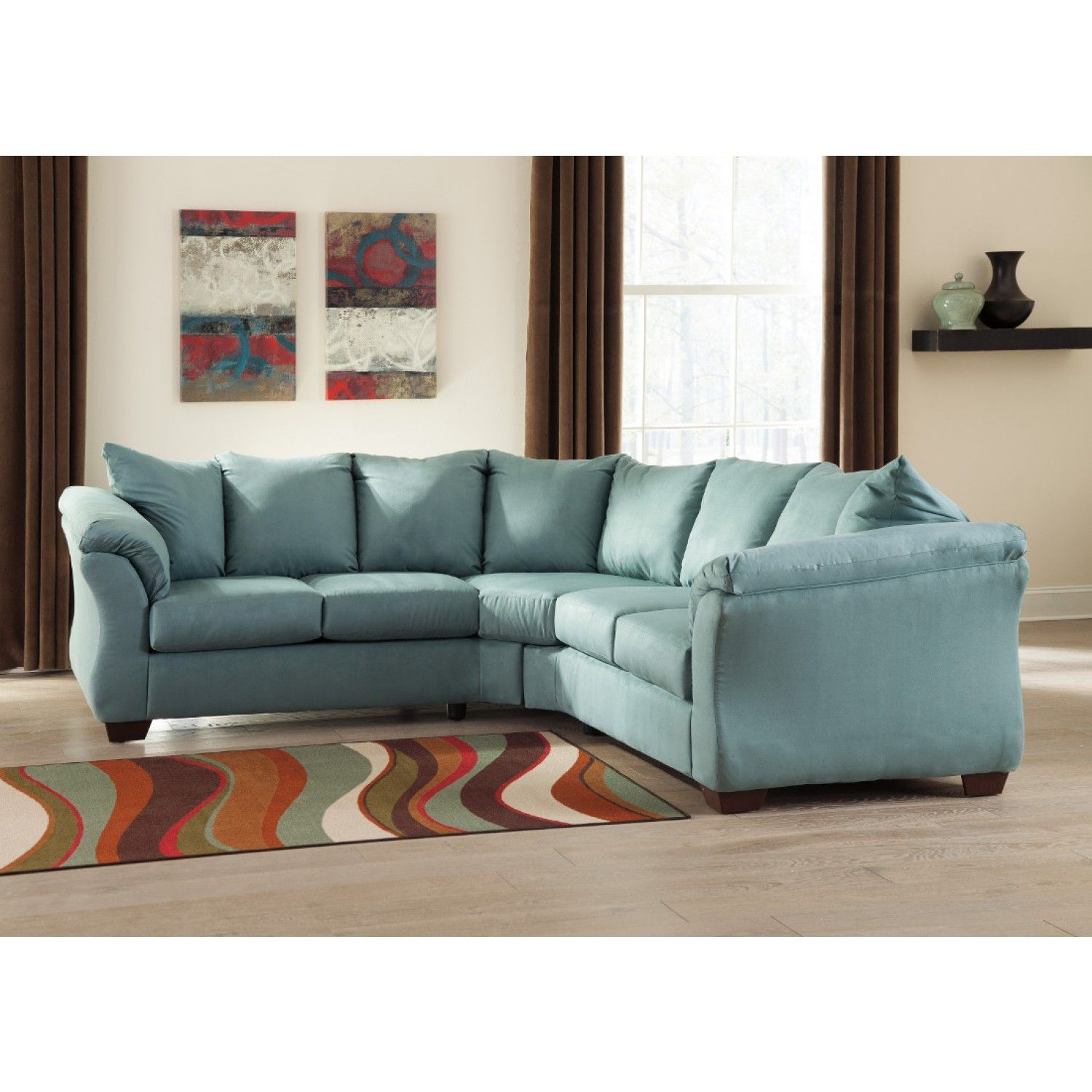 Ashley furniture darcy sectional in sky