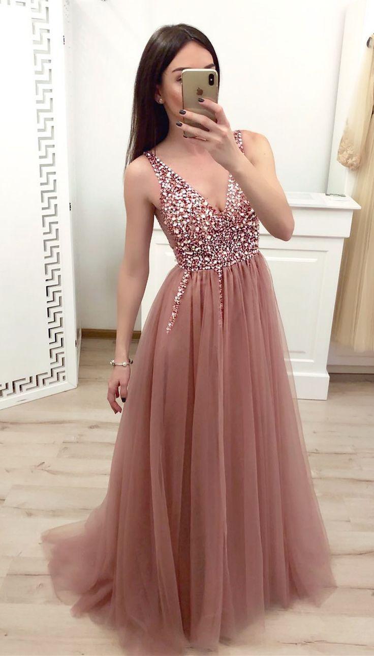 elegant prom dresses 19, blush pink prom dresses with sparkle