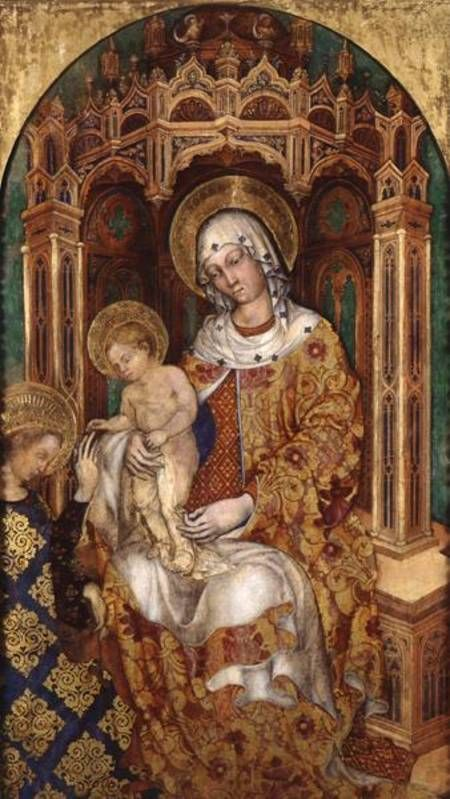 """Image detail for -Michele Giambono """"The Mystic Marriage of St. Catherine of Alexandria ..."""