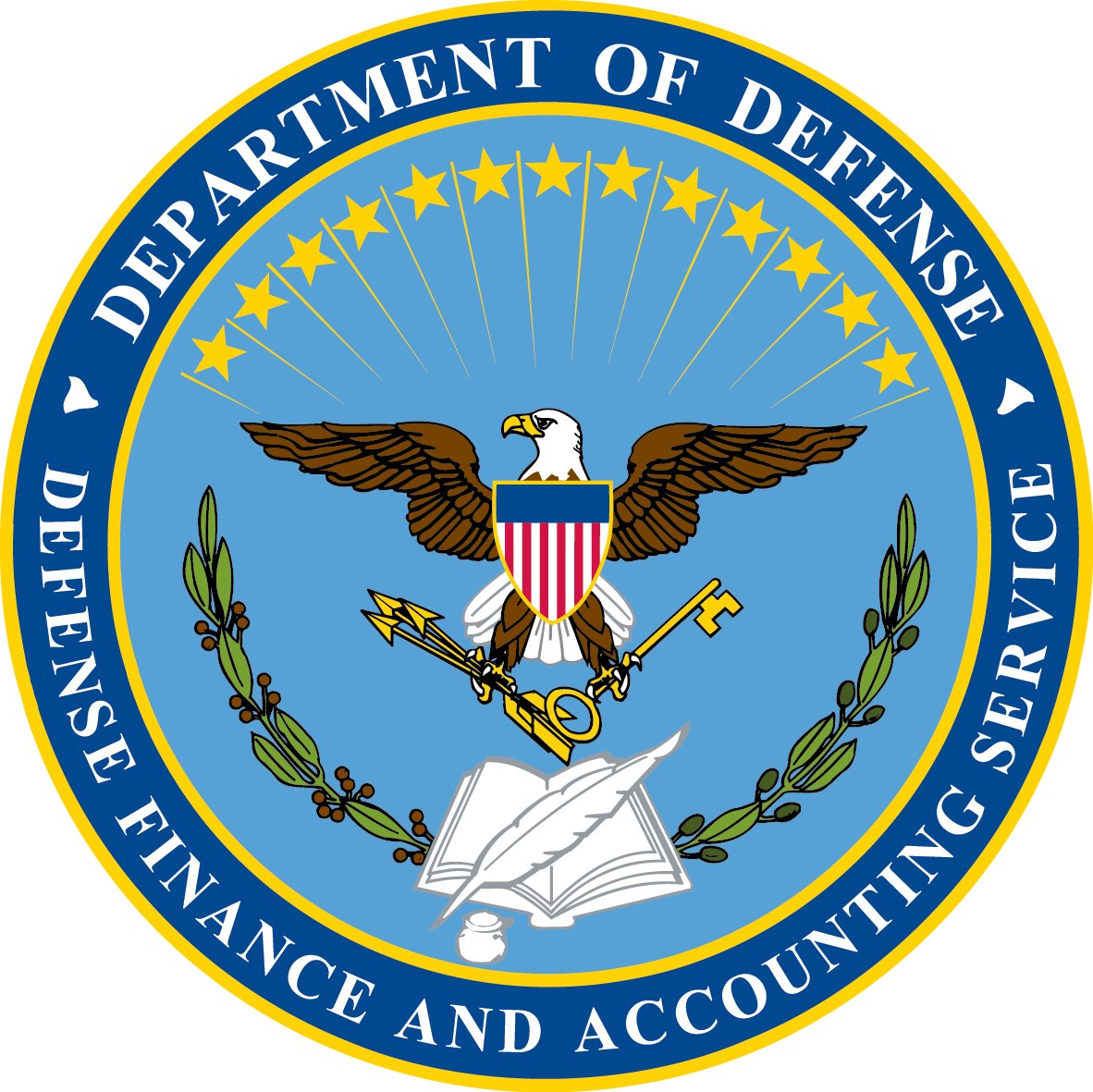 "Armed Ready To Serve: Link: ""The Various Components Of The DFAS Seal Reflect The"