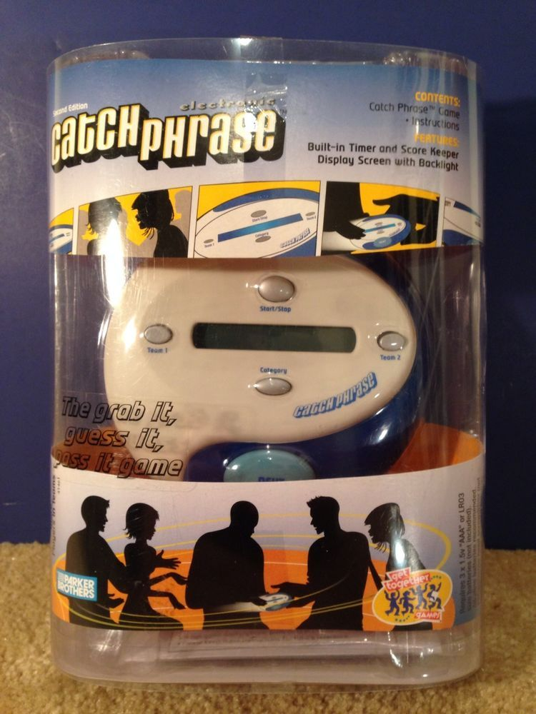 Catch Phrase Electronic Hand Held Game Nib New In Box Rare
