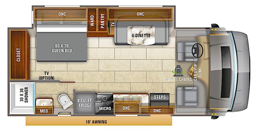 8 Best Class C Rv Floorplans Under 30 Feet In 2021 Entegra Coach Motorhome Class C Rv
