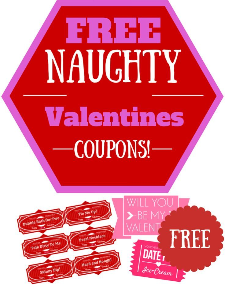 FREE Naughty Valentines Day Coupons for your Bae | Sexy gifts ...