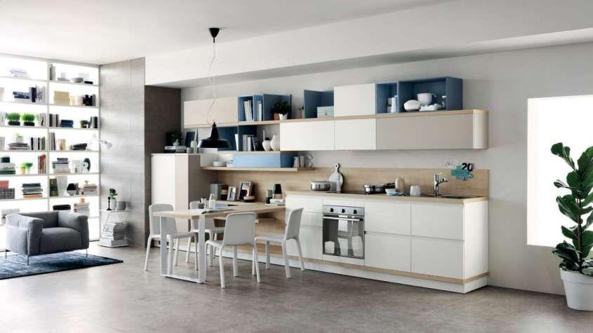 moderne in legno 2017 - Cucina moderna in legno Scavolini