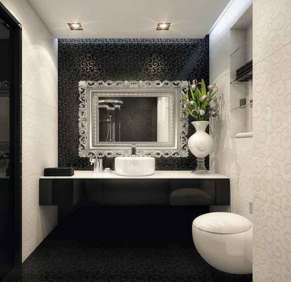 Decorating With Black Walls Weisse Badezimmer Badezimmer Schwarz