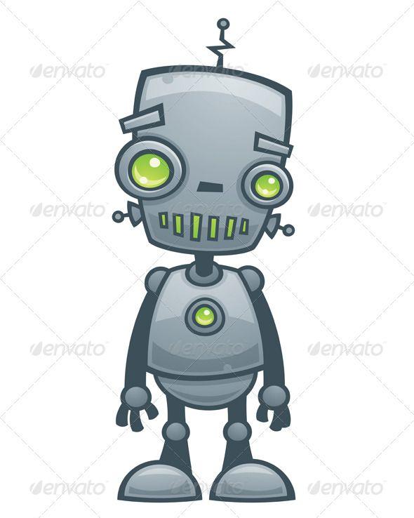 Happy Robot Robot, Characters and Illustrations - new robot blueprint vector art